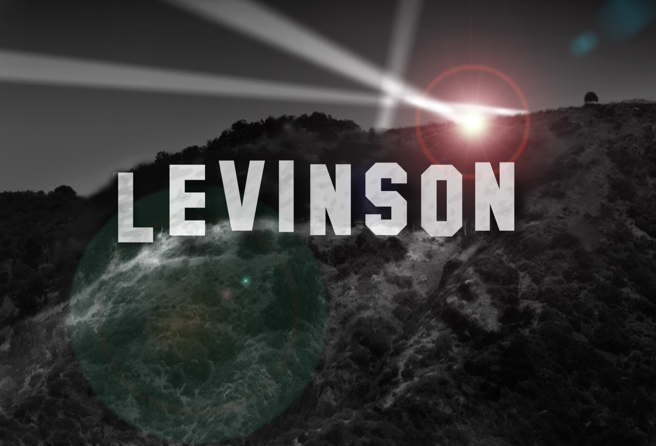 Levinson Hollywood Sign (Photoshop by Tom Salvas)